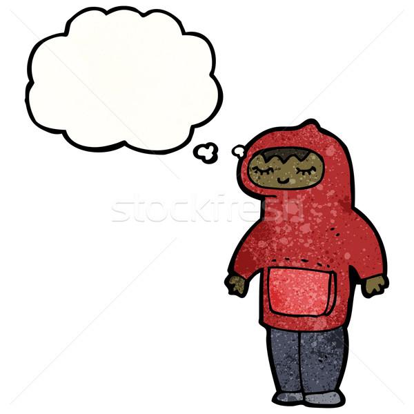 cartoon boy in hooded top cartoon Stock photo © lineartestpilot