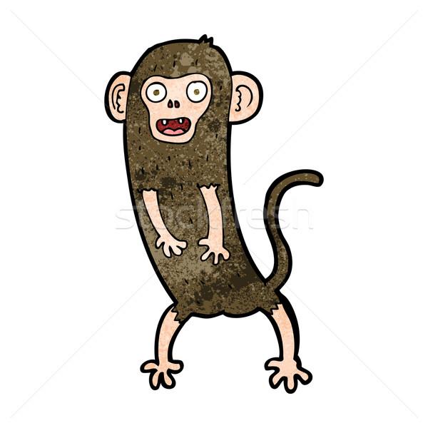 Cartoon Crazy обезьяны дизайна искусства животные Сток-фото © lineartestpilot