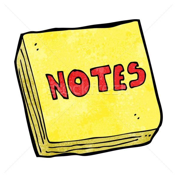 cartoon notes pad Stock photo © lineartestpilot
