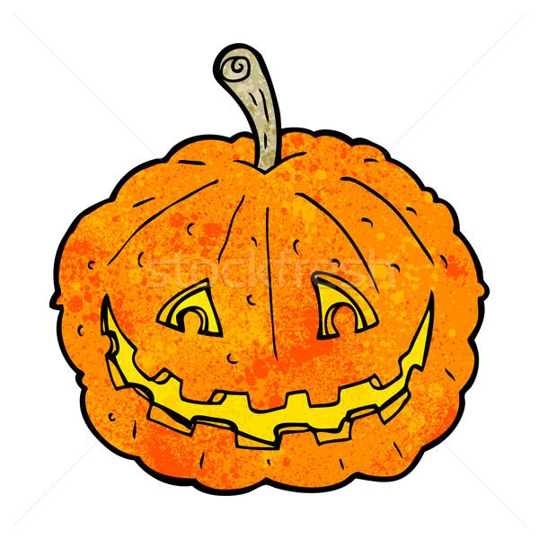 cartoon grinning pumpkin Stock photo © lineartestpilot