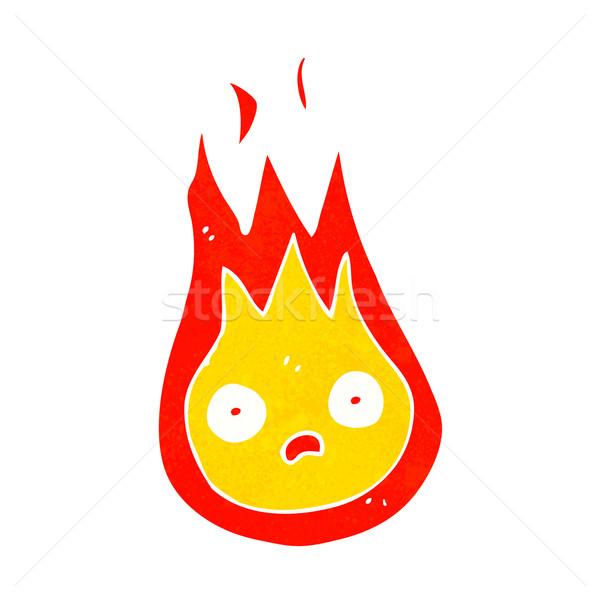 Cartoon amistoso bola de fuego diseno arte retro Foto stock © lineartestpilot
