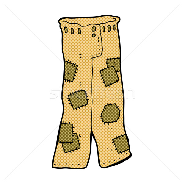 comic cartoon patched old pants Stock photo © lineartestpilot