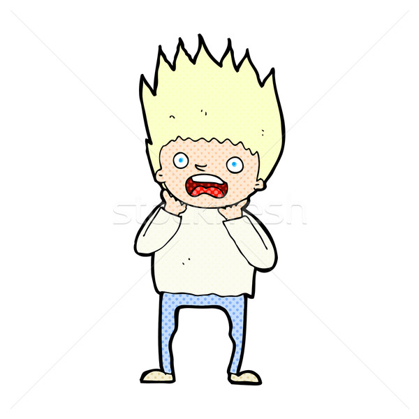 comic cartoon man panicking Stock photo © lineartestpilot