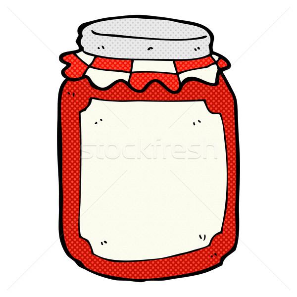 comic cartoon jar of preserve Stock photo © lineartestpilot