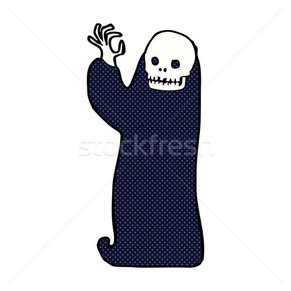 comic cartoon waving halloween ghoul Stock photo © lineartestpilot