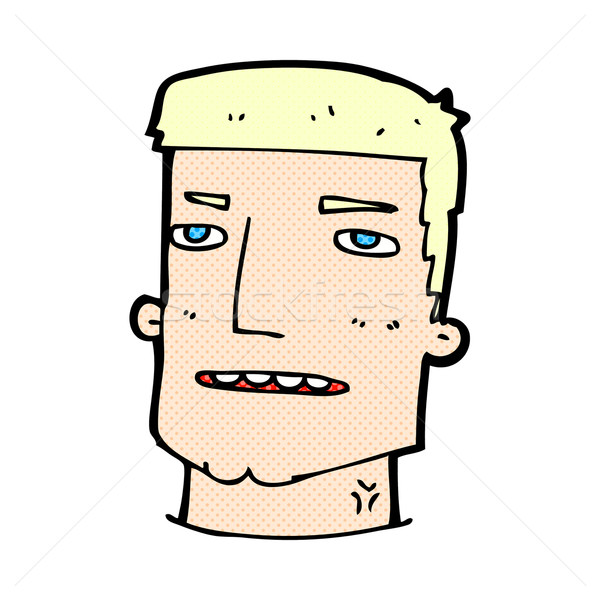 comic cartoon male head Stock photo © lineartestpilot