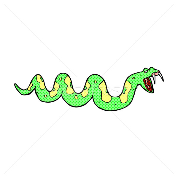 comic cartoon poisonous snake Stock photo © lineartestpilot