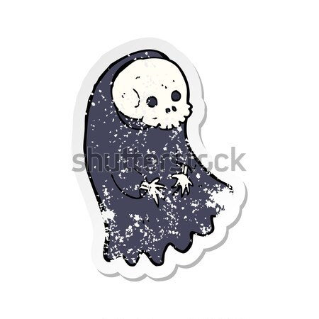 cartoon spooky ghoul with thought bubble Stock photo © lineartestpilot