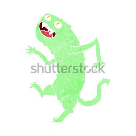 Rajz nő mocsár szörny lány boldog Stock fotó © lineartestpilot