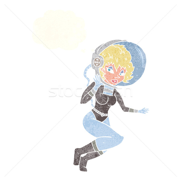 漫画 スペース 女性 思考バブル 手 デザイン ストックフォト © lineartestpilot