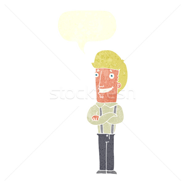 Cartoon orgoglioso uomo fumetto mano design Foto d'archivio © lineartestpilot