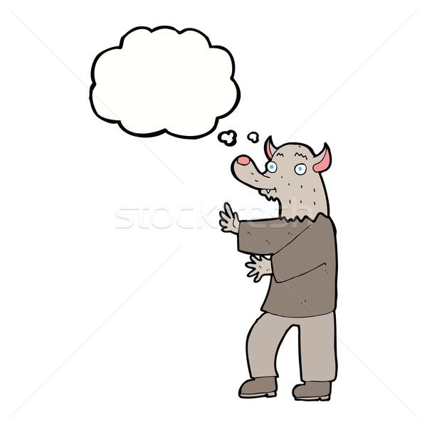 漫画 狼 思考バブル 手 デザイン 芸術 ストックフォト © lineartestpilot