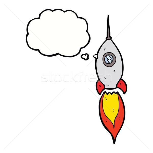 漫画 宇宙船 思考バブル 手 デザイン スペース ストックフォト © lineartestpilot