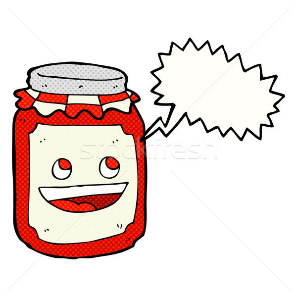 Cartoon jar tekstballon hand ontwerp kunst Stockfoto © lineartestpilot