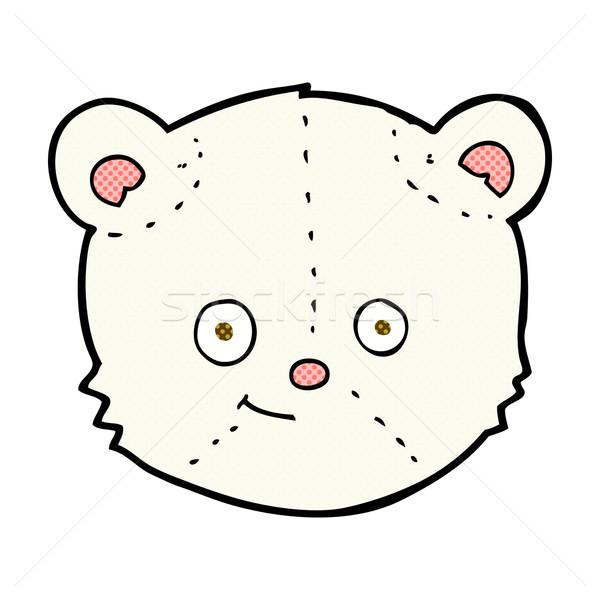 Fumetto cartoon orso polare testa retro Foto d'archivio © lineartestpilot