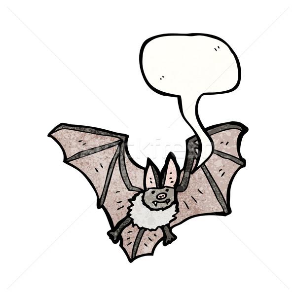 Stock photo: cartoon vampire bat