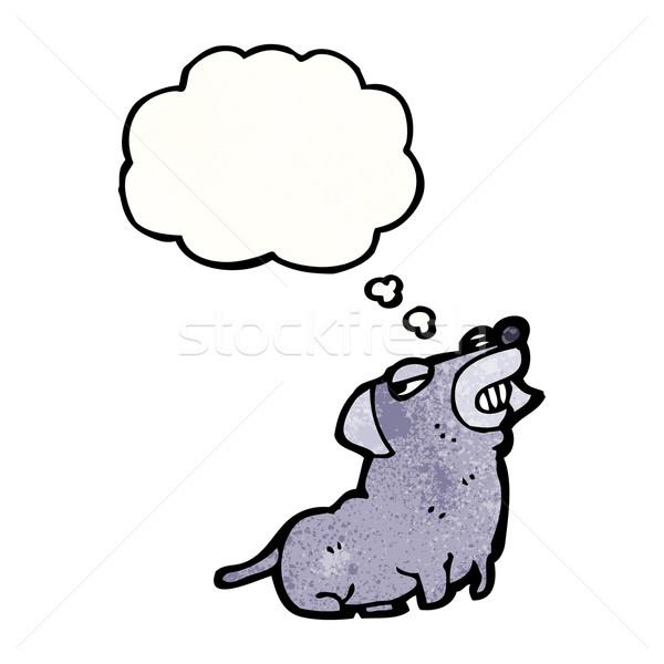 cartoon little dog grinning Stock photo © lineartestpilot