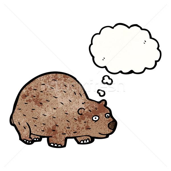 Cartoon beer praten retro denken tekening Stockfoto © lineartestpilot
