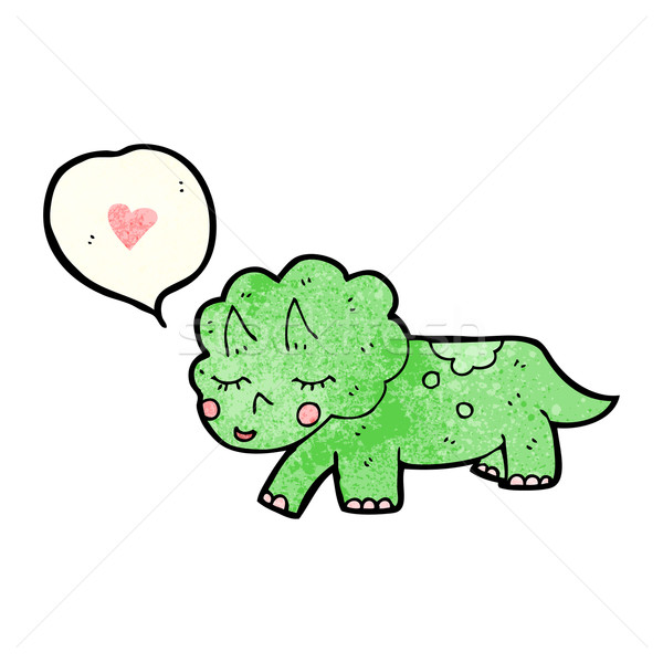 cartoon triceratops Stock photo © lineartestpilot