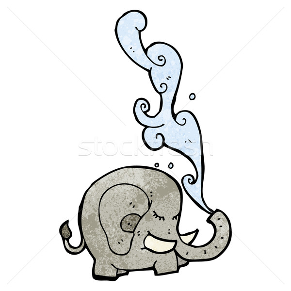 elephant squirting water cartoon Stock photo © lineartestpilot