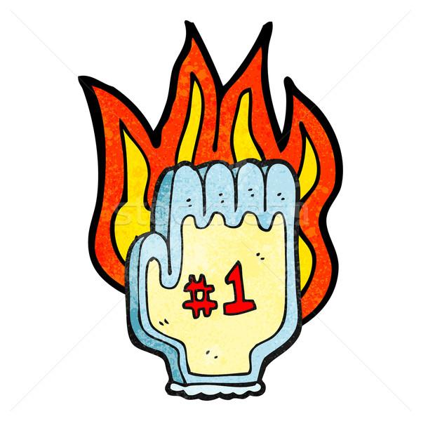 flaming foam hand Stock photo © lineartestpilot
