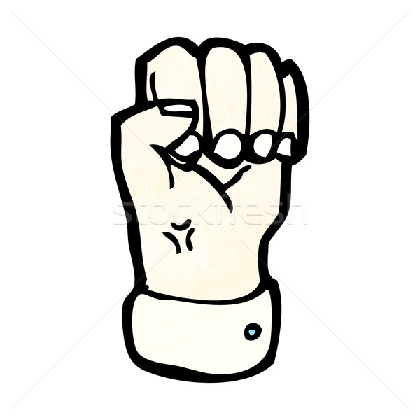 cartoon clenched fist Stock photo © lineartestpilot