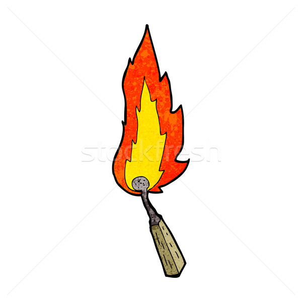 cartoon burning match Stock photo © lineartestpilot
