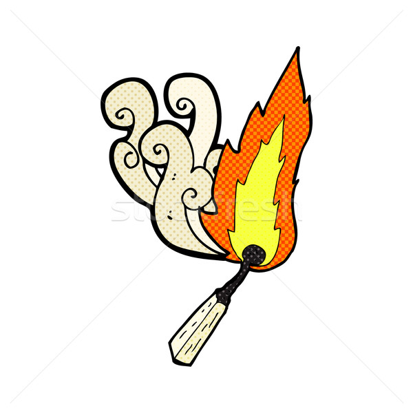 comic cartoon burning match Stock photo © lineartestpilot