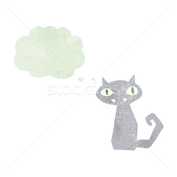 漫画 黒猫 思考バブル 手 デザイン 芸術 ストックフォト © lineartestpilot