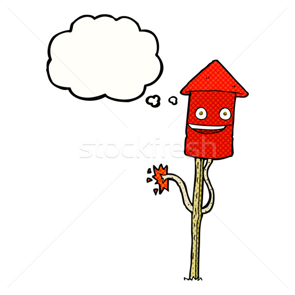Cartoon bolla di pensiero mano design arte Foto d'archivio © lineartestpilot