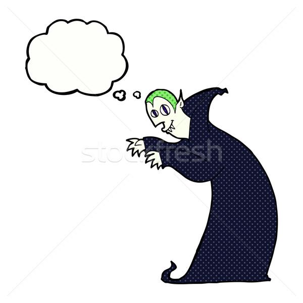 Cartoon вампир мысли пузырь стороны дизайна Сток-фото © lineartestpilot