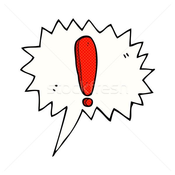 cartoon exclamation mark with speech bubble Stock photo © lineartestpilot