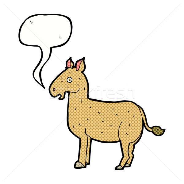 cartoon mule with speech bubble Stock photo © lineartestpilot
