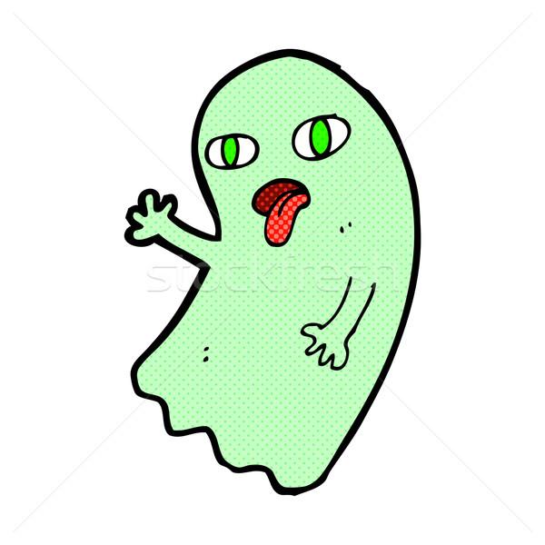 funny comic cartoon ghost Stock photo © lineartestpilot