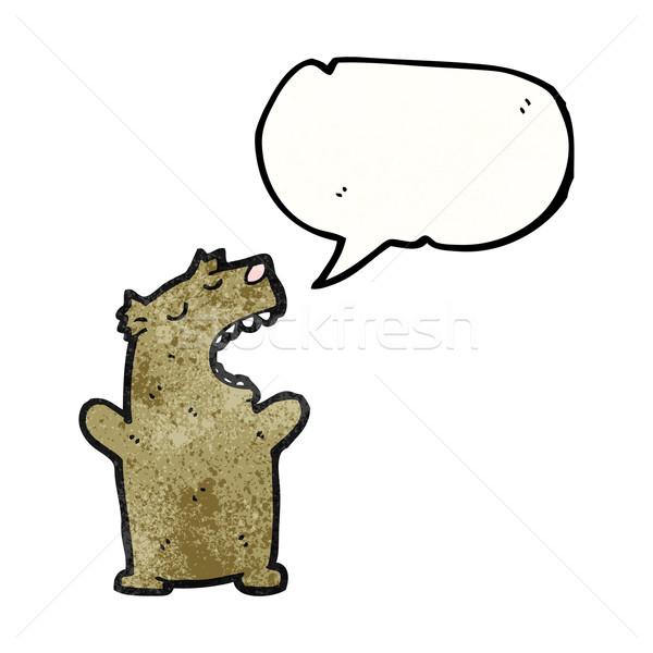 Cartoon parler ours texture main heureux Photo stock © lineartestpilot