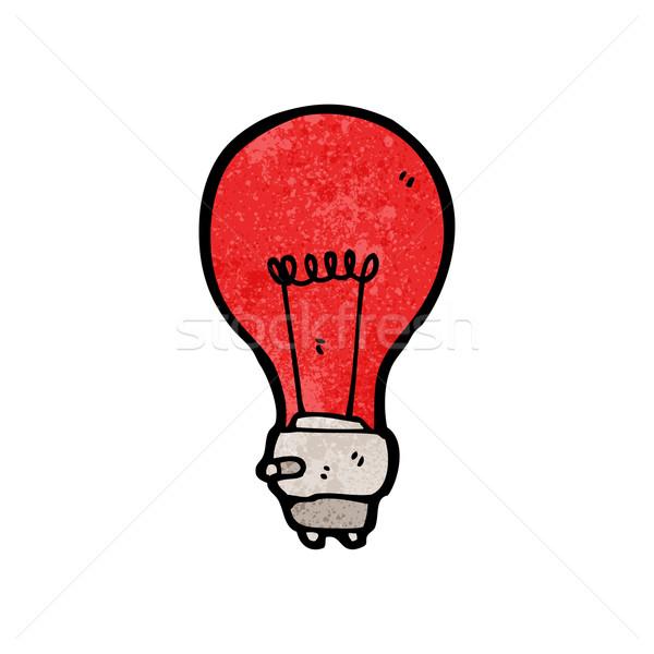 red light bulb cartoon Stock photo © lineartestpilot