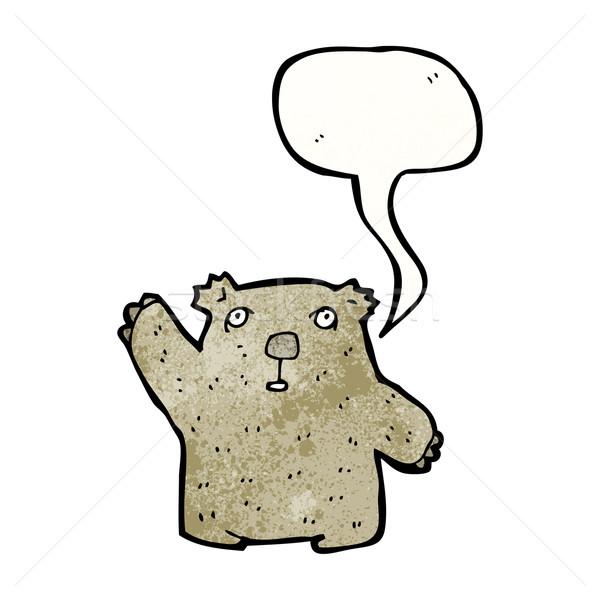 Cartoon koala retro textuur geïsoleerd witte Stockfoto © lineartestpilot