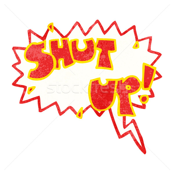 Stock photo: shut up cartoon shout