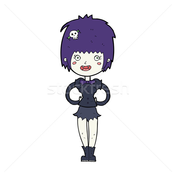 Cartoon heureux vampire fille femme design Photo stock © lineartestpilot