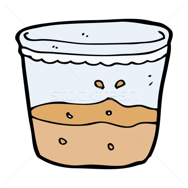 Cartoon стекла ром стороны дизайна пить Сток-фото © lineartestpilot