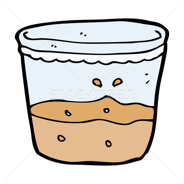 Cartoon vetro rum mano design bere Foto d'archivio © lineartestpilot