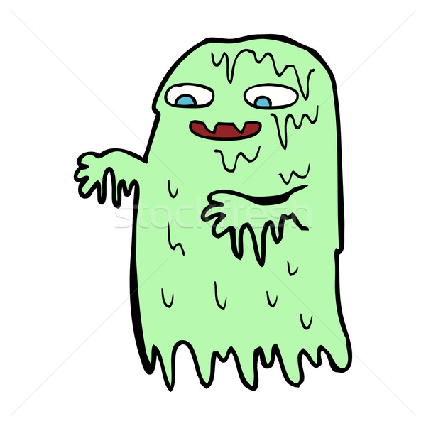 cartoon gross slime ghost Stock photo © lineartestpilot