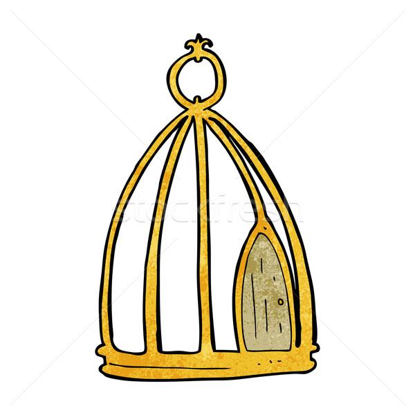 Cartoon ontwerp kunst vogel retro Stockfoto © lineartestpilot