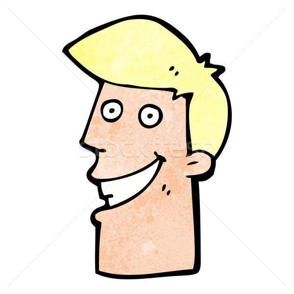 cartoon grinning man Stock photo © lineartestpilot