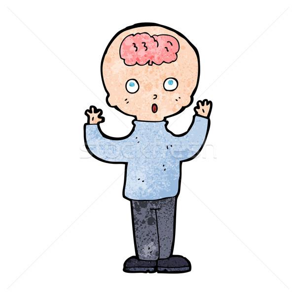 Desenho animado gênio mão homem projeto louco Foto stock © lineartestpilot