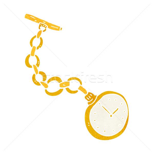 Cartoon edad reloj de bolsillo diseno arte retro Foto stock © lineartestpilot