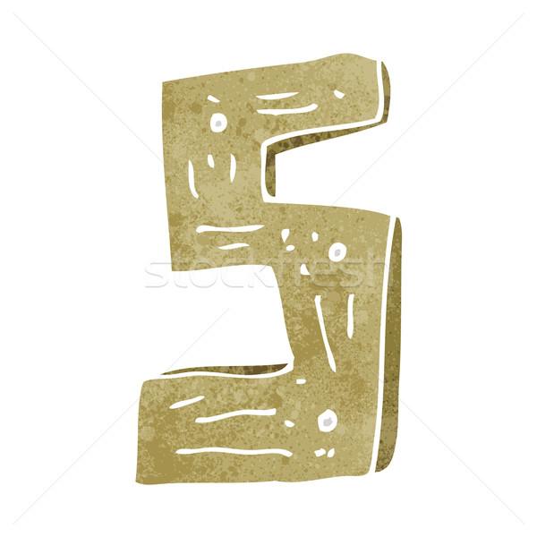 漫画 木製 番号 デザイン 芸術 レトロな ストックフォト © lineartestpilot