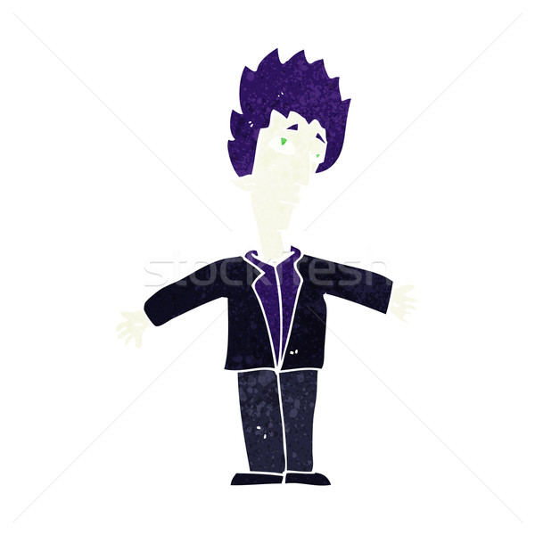 Cartoon vampire homme main design fou Photo stock © lineartestpilot