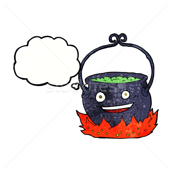 cartoon witch's cauldron with thought bubble Stock photo © lineartestpilot