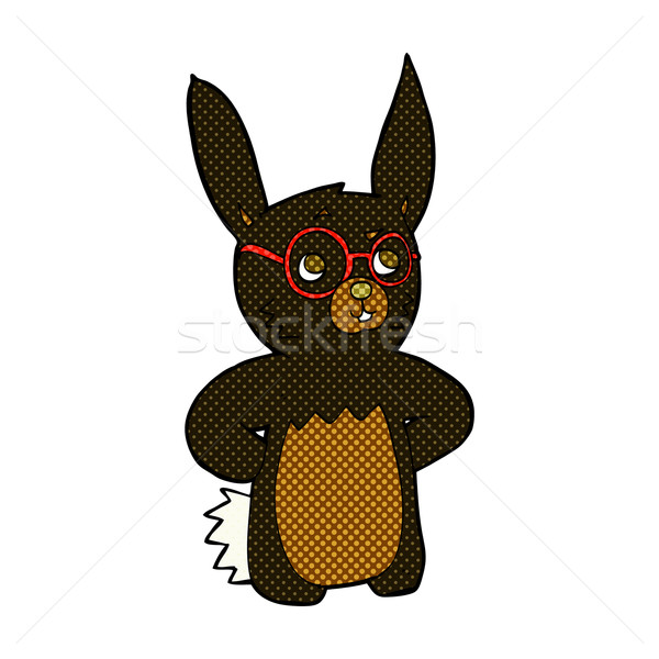 comic cartoon rabbit wearing spectacles Stock photo © lineartestpilot